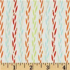 Color Splash Leafy Ribbons White