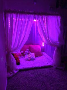 Kid Fort In 2019 Dream Rooms Room Decor Bedroom Neon Bedroom, Room Design Bedroom, Room Ideas Bedroom, Bedroom Decor, Childs Bedroom, Girls Bedroom, Bedroom Lighting, Dream Teen Bedrooms, Neon Lights Bedroom