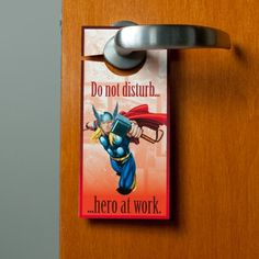 Thor's Realm Door Hanger Exceptional skills come only with practice, which is why every warrior needs privacy from time to time.