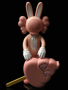 Kaws - Pink Accomplice and Strawberry Ice Cream