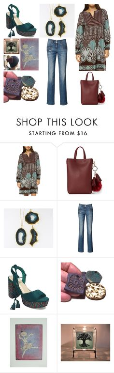 """""""Burgundy & Teal"""" by crsevier ❤ liked on Polyvore featuring White Mark and Street Level"""