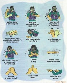 Scuba diving essential hand signals