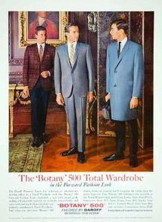 1965 Ad Botany 500 Total Wardrobe Daroff Suit Coat Overcoat 60s Fashion Man Men - Original Print Ad