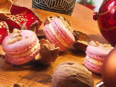 Karácsonyi diós macaron recept - Macaron Akadémia, francia macaron alapanyagok, macaron tanfolyamok Macarons, France, Dios, Candy, Macaroons
