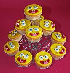 spongebob cupcake - Google Search
