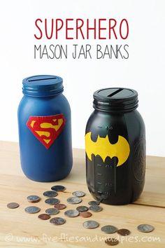 hucha de superman y batman