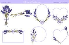Lavender Flower Frame and Clipart by Dora Katona on Creative Market