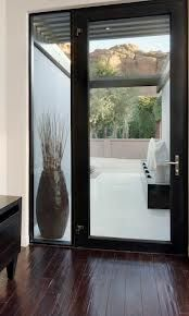 modern glass front doors - maybe something like this with two sides.