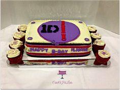 Red velvet 1direction cake