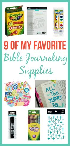 Bible Journaling is a lot of fun, but learning what supplies work in your Bible can be tricky. Check out my favorite Bible Journaling Supplies that I use.