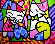 Art by Romero Britto, brazilian painter and sculptor