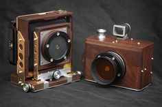 Karlos No.54. 6X6 medium format pinhole camera with removable 60mm & 85mm pinhole set.