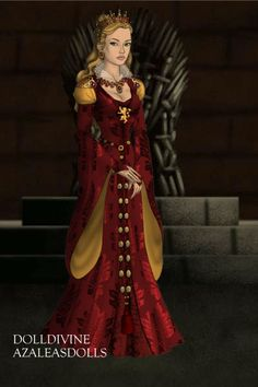 Cersei Lannister, the cunning, vengeful, ever-so-slightly bonkers Queen of the Seven Kingdoms. Note she wears a more revealing, more luxurious version o. Cersei of House Lannister Game Of Thrones Dress, Doll Divine, Cersei Lannister, Royal Dresses, Fantasy Dress, Beautiful Dolls, Dress Up, Anime, Style Inspiration