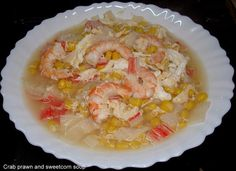 Really easy Crab and Sweetcorn Soup.
