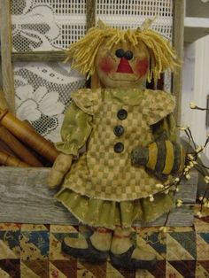 Annie Raggedy Doll and Honey Bee Pattern 90 $6.00