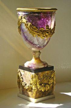 554. Sold. Rare Blue John Carved Urn Ormolu Mounts 19th Ct - Pure Indulgence - Patrick Howard Antiques