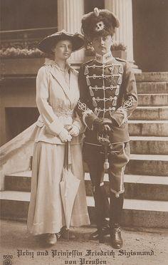 Prinz und Prinzessin Friedrich Sigismund von Preussen by Miss Mertens, via Flickr