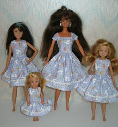 Handmade Barbie clothes  Barbie and sisters by TheDesigningRose, $28.00