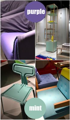 #trends2013 #ImmCologne #mint #purple #colors #interiors