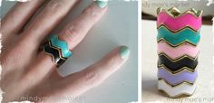 Anthropologie Inspired Chevron Ring – 6 Color Options! $6.99 for a very limited time.