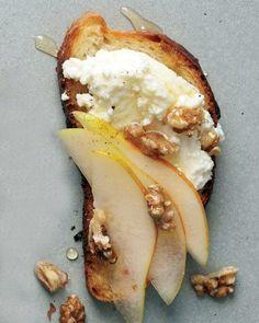 Pear, Walnut, and Ricotta Crostini // Martha Stewart