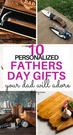 10+ Personalized Father's Day Presents Your Dad Will Actually Like. These unique Father's Day gifts from Etsy are perfect as gifts from daughter, son or even kids. Find out what do Fathers want for Father's day from this awesome list of fun personalized Father's Day gifts!