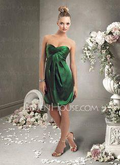 Holiday Dresses - $91.99 - Attractive Sheath Sweetheart Short/Mini Charmeuse Holiday Dresses with Ruffle (020003249) http://jenjenhouse.com/pinterest-g3249