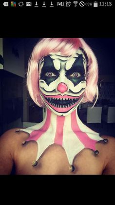 Scary clown makeup                                                       …