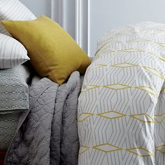 West Elm offers modern furniture and home decor featuring inspiring designs and colors. Create a stylish space with home accessories from West Elm. Dream Bedroom, Home Bedroom, Girls Bedroom, Bedroom Decor, Bedroom Ideas, Master Room, Organic Modern, Textile Patterns, Textiles
