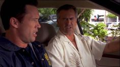 """""""Time to go Sam."""" [Michel Westen]  """"I ever tell you you're the reason I drink Mikey?"""" [Sam Axe]   Pictured: Michael Westen (Jeffrey Donovan) and Sam Axe (Bruce Campbell)"""