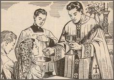 Comunhão dos fiéis Santa Missa de Sempre - Imagens - Associação Santo Atanásio