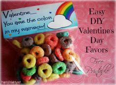 """""""Valentine...You are the Color in My Rainbow"""" Printable Tags      Mighty Delighty"""