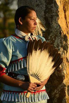 Lakota Woman. Custer County, Black Hills National Forest, Western South Dakota.