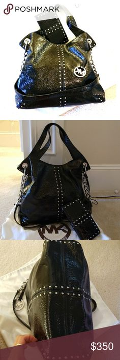 da9da09b5db89b Michael Kors duo patent leather satchel + wallet Patent black leather  shoulder/satchel purse and