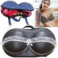 Portable Traveling Dot Patterned Bra Bag Eva Bag Underwear Bag for Women Ladies ($21.59)