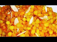 Sweet Boondi Recipe | Rasbhari Meethi Boondi | Besan Boondi | Besan Sweets - YouTube Eid Collection, Chana Masala, Sweets, Vegetables, Ethnic Recipes, Food, Gummi Candy, Candy, Essen