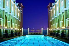 Movenpick Dubai IBN Battuta Pool Night_Luxury Heist