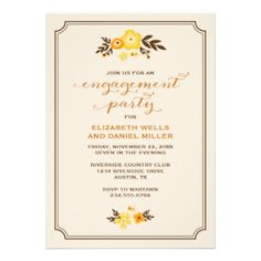 Elegant modern chic fall engagement party invitation design with calligraphy script typography and a cute illustrated border of fall leaves and flowers. Click the CUSTOMIZE IT button to customize fonts, move text around and create your own unique one-of-a-kind invitation design. #engagement #party #engagement #engagement #party #invitations #modern #autumn #floral #fall #fall #engagement #party #fall #wedding #rustic #trendy #country #invitation #elegant #typography #party #fonts #pretty ...