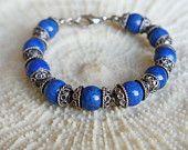 Lapis Bracelet. Sterling silver lapis bracelet, Lapis Lazuli