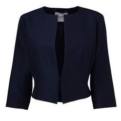 The Vanda cropped jacket features a high neckline and beautifully nipped waist. Its simple shape and sleek cut perfectly silhouettes the body. Pair this with a chiffon skirt or smart dress for a new level of modern elegance.