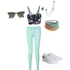 mystyle by bellepanache on Polyvore featuring polyvore fashion style Tommy Hilfiger adidas Betsey Johnson Ray-Ban