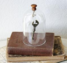 Small Dome Cloche with Knob and Hook