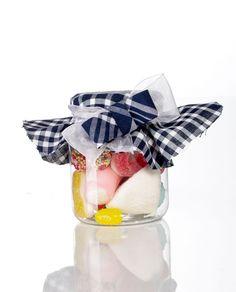 botes o tarros de chuches y dulces para detalles #falleros con tela