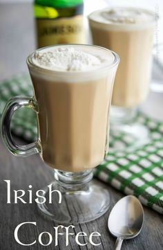 Warm your soul with this recipe for Irish Coffee made with freshly brewed coffee and Irish whiskey. #Coffee