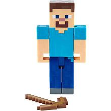 Minecraft 5 inch Action Figure  Mining Steve with Pickaxe (Colors/Styles May Vary)