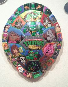 TMNT WALL ART  TEENAGE MUTANT NINJA TURTLES NATE BERKUS TORTOISE SCHELL