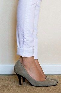 Or cuff long jeans for a quick makeshift hem. | 17 Super Useful Styling Tips For Women Under 5'4