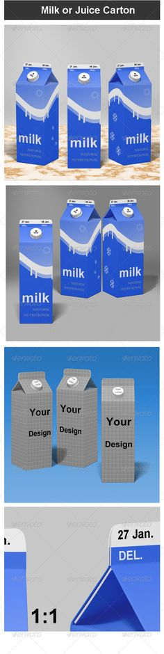 Milk or Juice Carton Mock-up