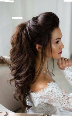 half up wedding hairstyles for long hair - Hair Models Half Up Wedding Hair, Wedding Hairstyles Half Up Half Down, Wedding Hairstyles For Long Hair, Wedding Hair And Makeup, Trendy Hairstyles, Wedding Nails, Fashion Hairstyles, Black Hairstyles, Layered Hairstyles