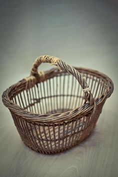 French style openwork shopper basket; this is a true vintage; I can source any of these kinds of baskets.